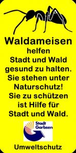 Waldameisen-Hinweisschild